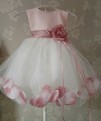 Baby christening bridesmaid wedding flower girl 12-24mth cake smash outfit party