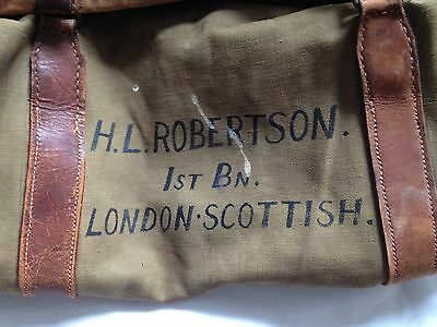 British Army / London Scottish Officers' Kit Bag WW1 WW2 1920-1940