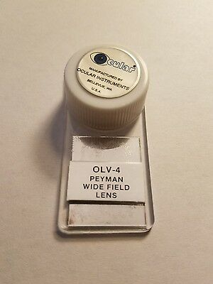 Ocular Olv-4 Peyman Wide Field Lens Vitrectomy Eye Ophthalmology Surgical