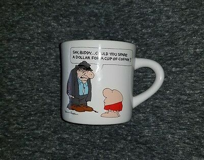 ZIGGY Coffee Mug Comic 'SAY, BUDDY..COULD YOU SPARE A DOLLAR FOR A CUP...' NEW!