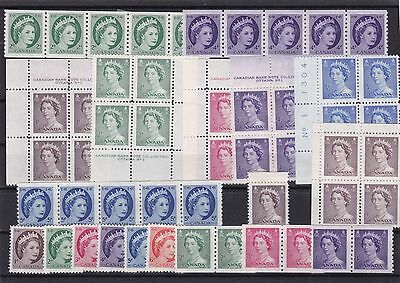 canada coil + stamp blocks mounted mint ref 7934
