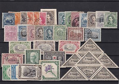 costa rica used stamps lot ref 7940