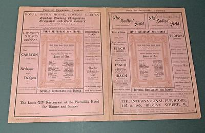 Old Programme/Poster Royal Opera House Covent Garden - Joan Of Arc - 1913 ??.