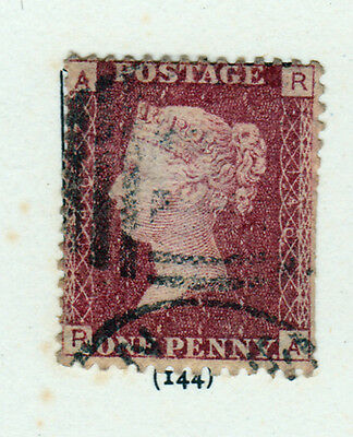 GB-1858/79. 1d Rose-Red, Plate 144. Good used.