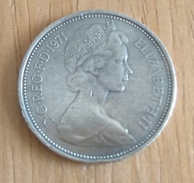 Silver Coloured 2 pence 2p Coin 1971 great collectors item