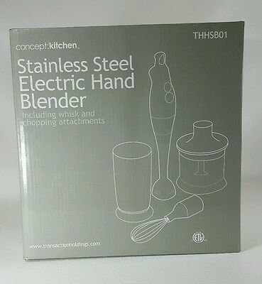 Concept kitchen Handheld Electric Blender With Attachments. New in box