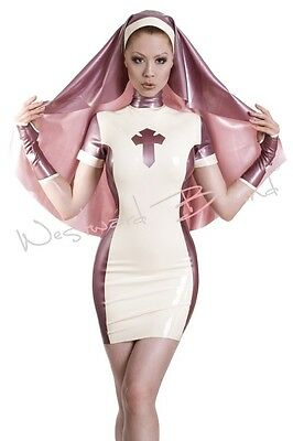 R936 Rubber Latex NUNS DRESS / NO HEAD HABIT *Shown* 10  ONE ONLY