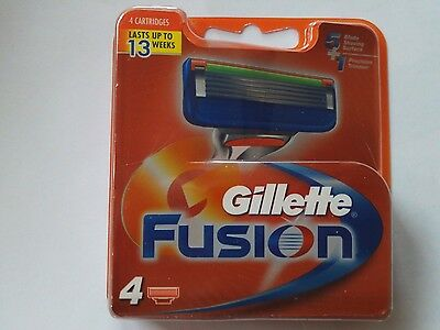 """Gillette """"fusion"""" Replacement Cartridges. Pack Of 4."""