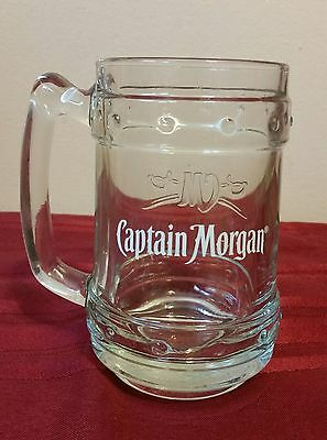 Captain Morgan Rum Glass Stein Mug Tankard- Embossed -Made in Italy