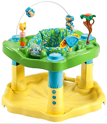 Zoo Friends ExerSaucer Deluxe Toddler Kids Active Learning Fun Play Center New