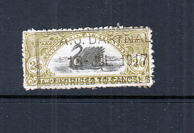 WA 1911 2/6 LONGWAN -Revenue-w6- p11-REVERSED WMK-Elsmore Cat $25+++FU