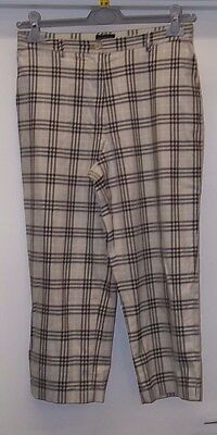Ladies Burberry Grey Check Golf Trousers Size 12