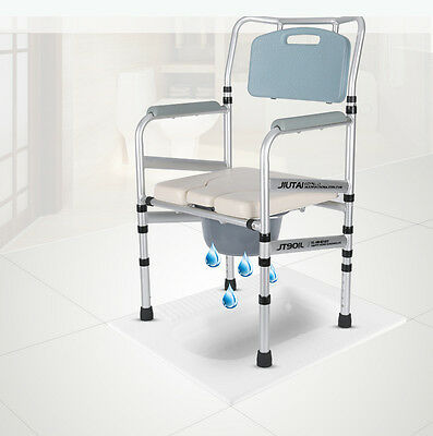Elderly potty chair foldable Pregnant mobile toilet Handicap Safety Support aid