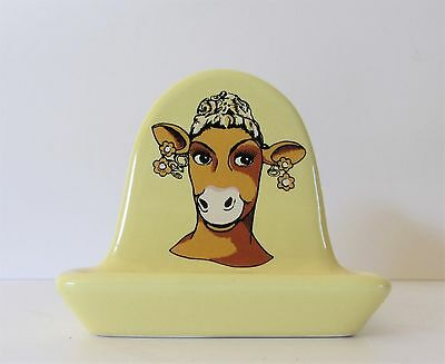 A Cheerful Wade Laughing Cow Toast Rack - Yellow