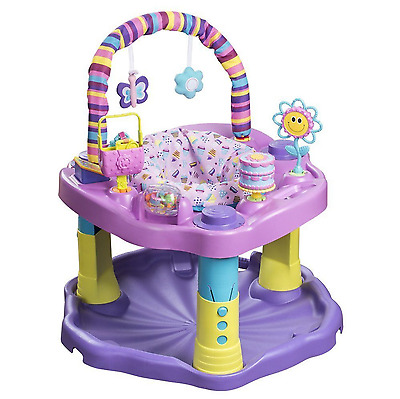 Evenflo Purple Sweet Tea Exersaucer Bounce And Learn Party For Learning NEW
