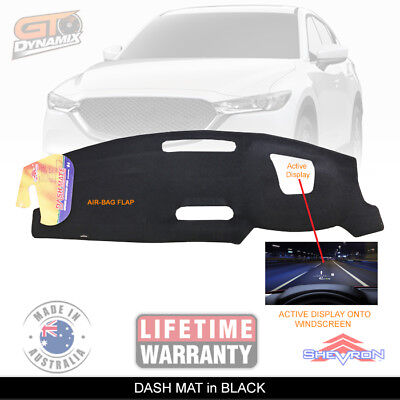 DASH MAT MAZDA CX-5 KF GT 'Display onto Windscreen' CX5 2/2017-19 DM1473D BLACK