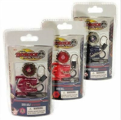 NEW BEYBLADE METAL FUSION TOP KEYCHAIN / KEYRING- you buy 3 assorted
