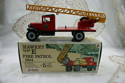 Vintage RARE Tin Fire Engine ladder truck model Hawkey type E Fre Patrol. MINT