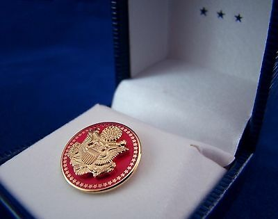 New 50 Star Red Eagle - Senate - House Of Representatives  - Lapel/Collar Pin