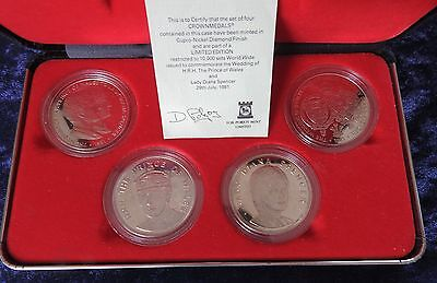 1981 Pobjoy mint box set-commemorating the wedding of Charles and Diana
