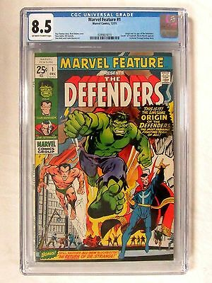Marvel Comics Feature #1 The Defenders (1971) Key 1st Appearance CGC 8.5 BP663