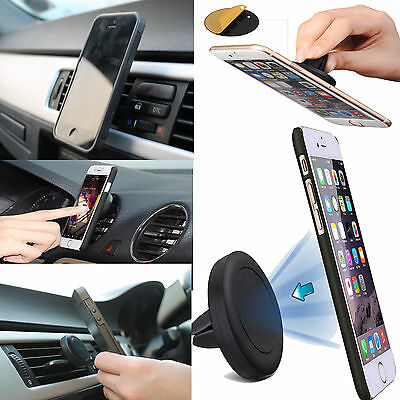 Universal Air Vent Magnetic Mobile Phone Car Mount Holder for Samsung iPhone HTC
