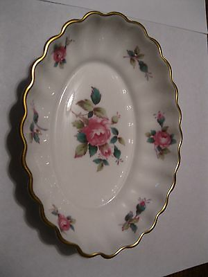 Spode Bone China Oval Pin Dish Billingsley Rose Spray Pattern, app 13.5cm x 10cm