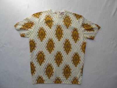VINTAGE 1970s ABSTRACT (PAISLEY STYLE?) PATTERNED JUMPER - MOD / SCOOTER / RETRO