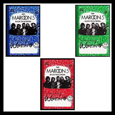"Maroon 5 ""Back To School"" 2009 Tour (3) Unused Silk Sticky Backstage Passes"