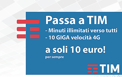 Attivazione Coupon Tim Ten Go: Minuti Illimitati - 10 Gb - Per Wind 3 E Virtuali