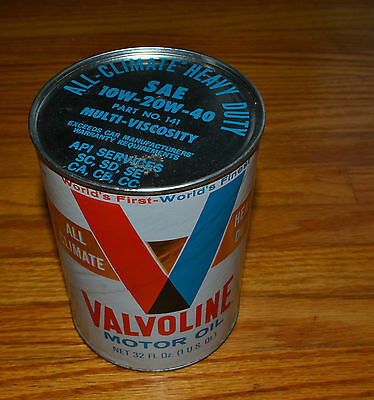 Vintage Valvoline Motor Oil Can-Empty