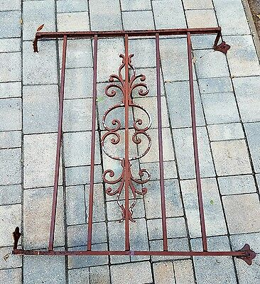 Wrought Iron Window Panel  Architectural Salvage Guard garden trellis vintage