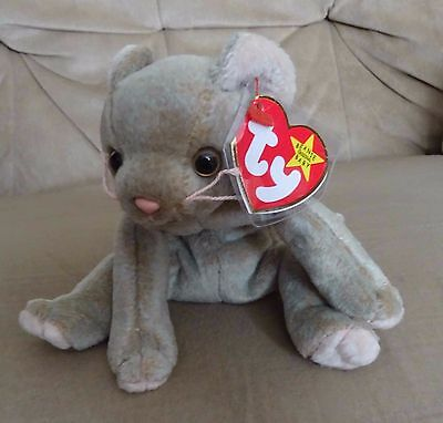 TY Beanie Baby - Retired - Scat the Cat - with both tags