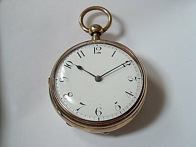 Antique 200 years old  HIGH Grade Fusee 1/4 Repeater UK Pocket Watch Working