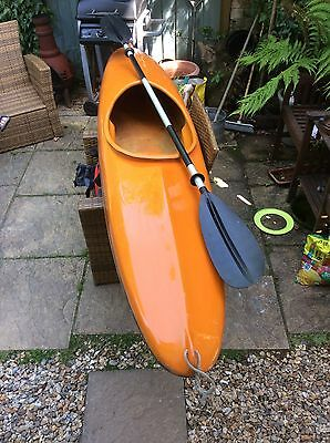 Canoe With Paddles And Life Jacket