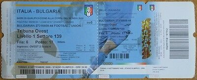 Italy - Bulgaria, World Cup 2010 Qualifiers Ticket
