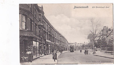 Bournemouth, Old Christchurch Road. Oncoming Tram/People/Pram/Bicycle.1904.