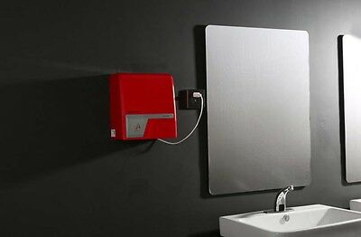 Red Plastics Wall Mounted Automatic Induction Quick Drying Hand Dryer Machine