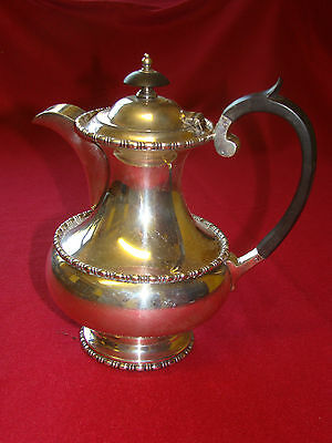 Antique Walker And Hall Silver Plate Coffee Pot