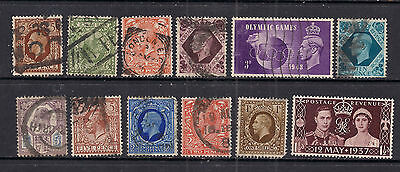 GB 1902 - 48 King Selection of 12 stamps in various conditions ( 325 )