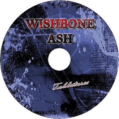 Wishbone Ash Bass & Guitar Tab Tablature Cd Best Of Greatest Hits Song Book Rock