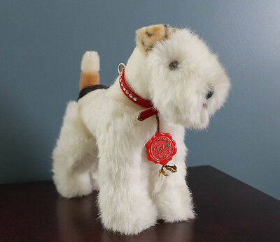 Hermann Teddy Original Plush Terrier Dog Made In West Germany