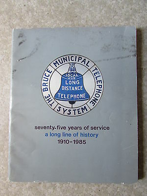Vintage Owen Sound Bruce Municipal Bell Telephone Co. Phone Book 1985