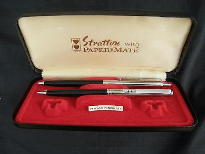 Vintage Stratton With Papermate Pen + Pencil Set