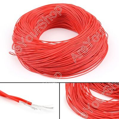 5M Flexible Stranded Silicone Rubber Wire Cable 28AWG Gauge OD 1.3mm Red BS5