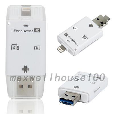 1PCS USB i-Flash Drive Micro SD/TF Memory Card Reader Adapter For iPhone Android