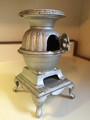 Antique Vintage Mini Pot Belly Stove Heater Cast Iron rare SALESMAN MODEL