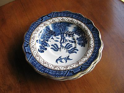 Booths Real Old Willow Blue White Gold Trim Tea Cup Saucer ONE
