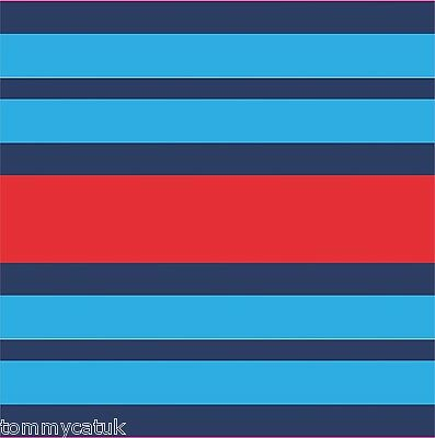 Exterior Adhesive Vinyl Decals Martini Racing Style Tape Stripe Various Widths