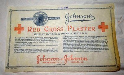 Vintage Advertising Red Cross First Aid Back Plaster